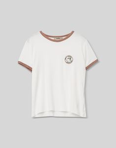 Patch T-shirt with unicorn - Teen Girls Collection - PULL&BEAR