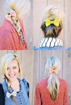Para usar – Laços no cabelo