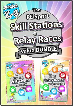 Every elementary teacher needs to check out these amazing PE/sport skill stations and relay race activities - there's so much in there you'll never struggle with planning another PE lesson again!