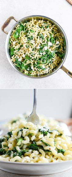 30 Minute Spinach and Goat Cheese Pasta I howsweeteats.com