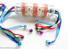 Ribbon Pulling Spice Bottle with Bells – Christmas Busy Bags