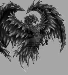 phoenix_black_and_white_by_mapazhe-d3fri1r.jpg (855×935)