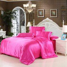 4pcs Bedding Set Silk Cotton King Queen Twin size Duvet Cover Bed Sheet