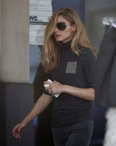Olivia Palermo hair and sunglasses