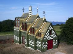 Structural work completed on the holiday home designed by artist Grayson Perry and London architecture firm FAT for Alain de Botton's Living Architecture. Grayson Perry, Fat House, Hansel And Gretel House, Essex Homes, London Architecture, John Pawson, First Photograph, Dezeen, Bricks