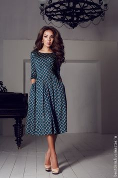 платье ШТАМП - трикотажное платье,изумрудное платье,зеленое платье,повседневное платье