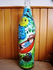 Maľovanie na sklo - Arizona Tea, Drinking Tea, Canning, Bottle, Home Decor, Home Canning, Flask, Interior Design, Home Interior Design