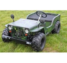 NEW FOR 2014: 110cc Petrol Powered 2 Seat Jeep Camo Colour