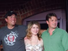 Adam Baldwin,  Jewel Staite, and Nathan Fillion