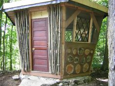 Tiny, beautiful cordwood structure by natural builder Marcos Grossman.