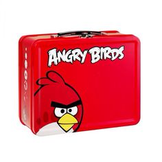 Angry Birds Metal Lunch Box - Cool Stuff to Buy and Collect Lunch Box Thermos, Tin Lunch Boxes, Vintage Lunch Boxes, Metal Lunch Box, Angry Birds Characters, Back To School Backpacks, Whats For Lunch, School Days, Cool Things To Buy