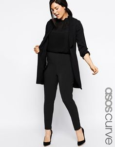 Agrandir ASOS CURVE - Pantalon cigarette ultra stretch