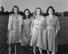 Portraits of four sisters taken over 40 years