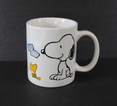 Woodstock Snoopy Mug Ceramic Coffee Cup Schulz UFS White M Ware