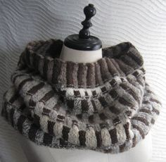 Dakota Cowl  - eco wool scarf, large cowl, hood, natural colors, warm and cozy around the shoulders and neck