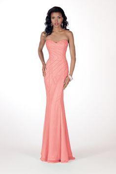 Gorgeous color on this Alyce Paris dress