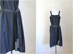 vintage 1920s dress -  MILKY WAY slip dress with beaded belt / M by MsTips on Etsy https://www.etsy.com/listing/478017738/vintage-1920s-dress-milky-way-slip-dress