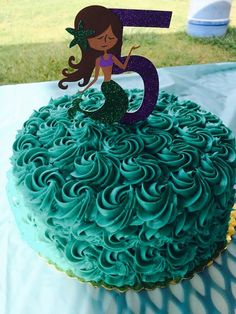 Mermaid Cake Topper Mermaid Birthday Party by LolaBearDesign