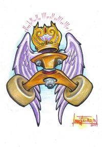 Uma dica de tatuagem, um desenho que encontrei no site leofavarin, a imagem foi alterada e colorida por Leo Favarin Tattoo e a imagem original é de autoria de Darwin Henrriques.
