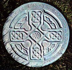 Celtic Cross Stepping Stone