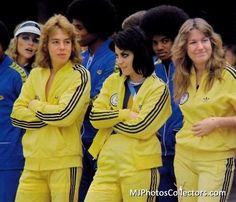 Joan Jett and Leif Garret. Michael Jackson in back.