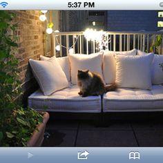 Balcony furniture idea minus the cat