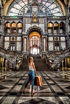 Three day guide to Antwerp in Belgium filled with local hotspots, beautiful architecture and great places to eat. Best Graffiti, Central Station, Beautiful Architecture, Stunning View, Best Vacations, Train Station, Great View, Vacation Spots, Great Places