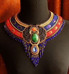 Beautiful jewelry in Egyptian style.  See more on beadsmagic.com