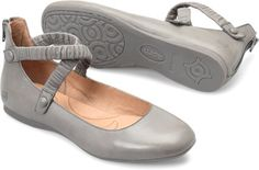 Born Leif in Grey - Born Womens Flats on Bornshoes.com