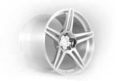 ADV05.1 One Piece Monoblock Forged Wheel in standard Brushed Aluminum with gloss powder coat clear
