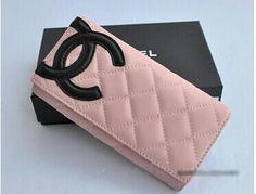 Chanel Bi-Fold Cambon Wallets 164 Pink with Black CC Logo - Dobestbuy New Handbags, Handbags Michael Kors, Black Handbags, Chanel Wallet, Chanel Purse, Chanel Chanel, Chanel Bags, Chanel Outfit, Chanel Fashion