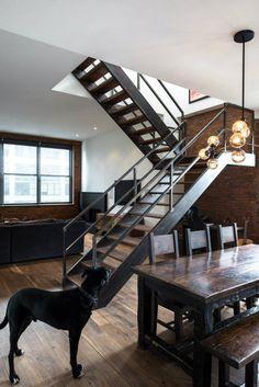 metal + wood + glass | via Handsome Sexy Man Rooms ~ Cityhaüs Design