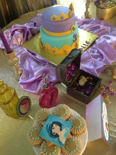 Loving this gorgeous Princess Jasmine party!  See more party ideas at CatchMyParty.com!  #princess #partyideas