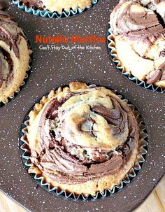 Nutella Muffins   Can't Stay Out of the Kitchen   you'll be drooling after one bite of these spectacular #nutella #muffins! Great for #breakfast or #dessert!