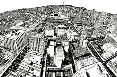 Rigo 98 (now Rigo 23), Study for Looking at 1998 San Francisco from the Top of 1925