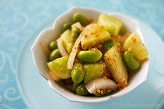 Korean-Style Cucumber and Edamame Salad
