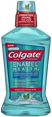 Get off now on Colgate Enamel Health Anticavity Fluoride Sparkling Fresh Mint Mouthwash, Ounce Best Mouthwash, Homemade Mouthwash, How To Prevent Cavities, Dental Supplies, Bentonite Clay, Healthy Teeth, Fresh Mint, Alcohol Free, Body Care