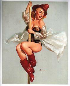 Vintage Retro Gil Elvgren Firefighter Pin Up Girl Business Card Pin Up Vintage, Retro Pin Up, Vintage Girls, Vintage Cowgirl, Retro Girls, Vintage Ads, Vintage Style, Vintage Inspired, Pinup Art