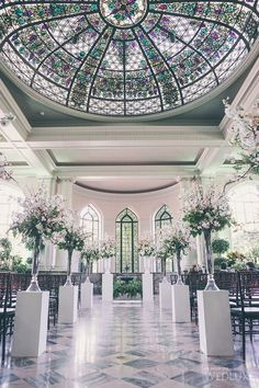 A Green& Soft Pink Castle Wedding   This romantic castle wedding is straight out a fairytale!  Photography by: Mimmo & Co