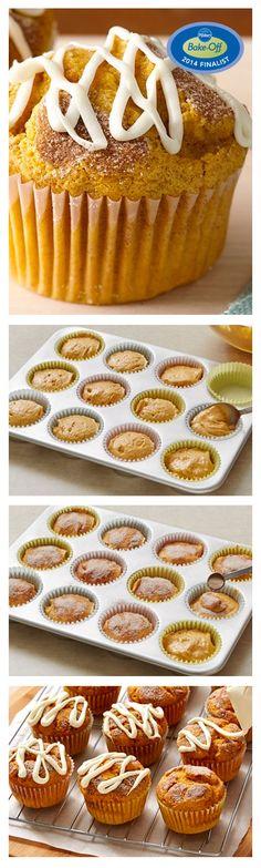 47th Bake-Off Contest Finalist: Cinnamon-Pumpkin Muffins by Anna Zovko from Tampa, FL