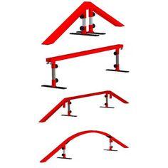How To Make A Skateboard Rail - Homemade Skateboard Rail Guide Skateboard Rails, Make A Skateboard, Finger Skateboard, Cool Skateboards, Scooter Ramps, Bmx Ramps, Skate Rail, Backyard Skatepark, Ski Park