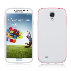 Fusion Candy 2-Tone Case for Samsung Galaxy S4 - White/Hot Pink