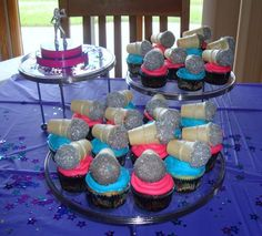 Microphone cupcakes for an American Idol birthday party