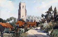 Church Scene, Isle of Wight by Edward Wesson