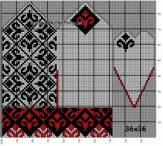 30 Patrones de Mitones Jackard Knitted Mittens Pattern, Fair Isle Knitting Patterns, Knit Mittens, Knitting Charts, Knitted Gloves, Hand Knitting, Crochet Motif, Crochet Patterns, Fingerless Mittens