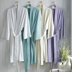 Under the Canopy Organic Cotton Kimono Robe, Nomad Pink Eco Bathroom, Spa Accessories, Cotton Kimono, Holiday Gift Guide, Holiday Gifts, Bathroom Inspiration, Washing Clothes, Fair Trade, Canopy