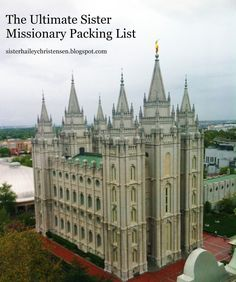 Sister Christensen's Mission Blog: The Ultimate Sister Missionary Packing List -- Great tips and includes a printable PDF file check list!