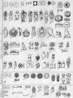 Ancient egyptian beads