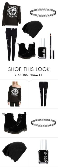 """""""A7X"""" by donna-bender ❤ liked on Polyvore featuring Frame Denim, Dr. Martens, Essie and Givenchy"""