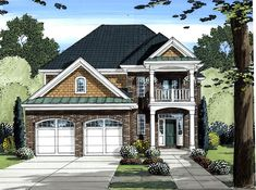House Plan 98620   Plan with 2758 Sq. Ft., 4 Bedrooms, 4 Bathrooms, 2 Car Garage